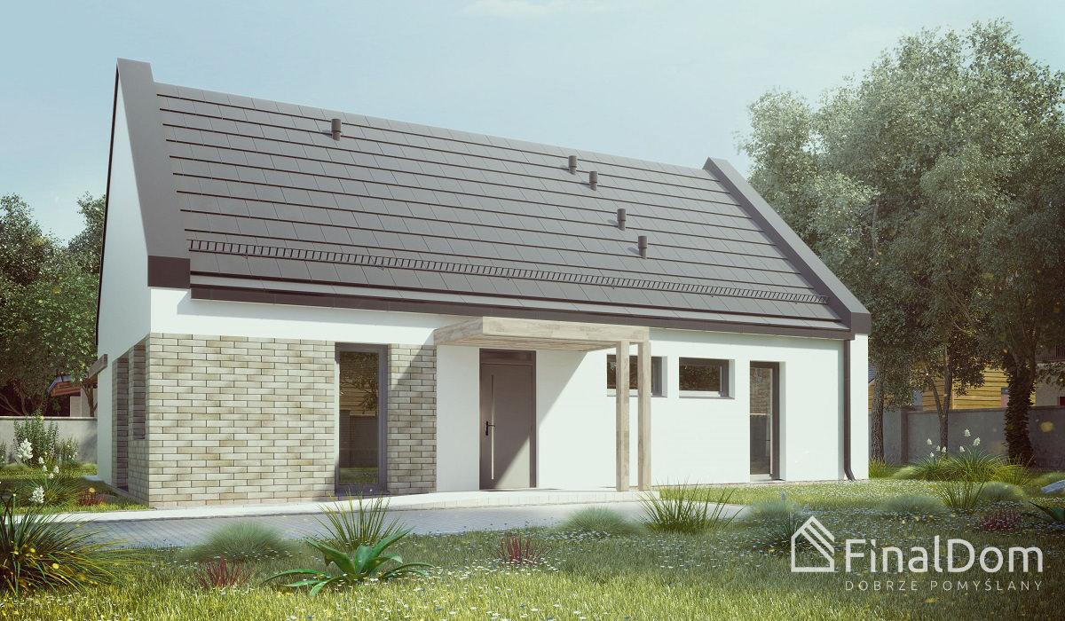 Śnieżnik - parterowy jednorodzinny dom energooszczedny w pobliżu Świdnicy
