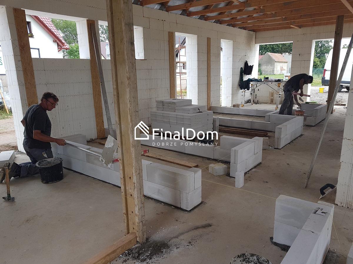 ścianki działowe z ytonga - projekt gotowy domu Śnieżnik - Finaldom