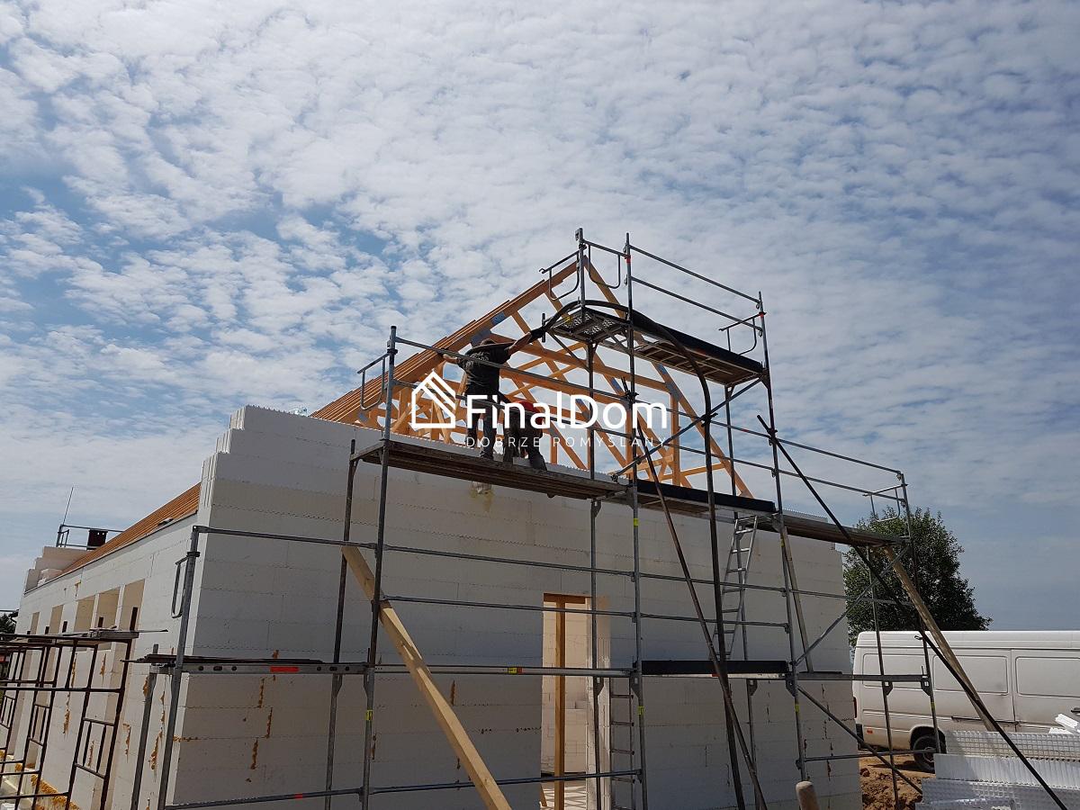 budowana domu energooszczędnego z projektu gotowego Śnieżnik - Finaldom