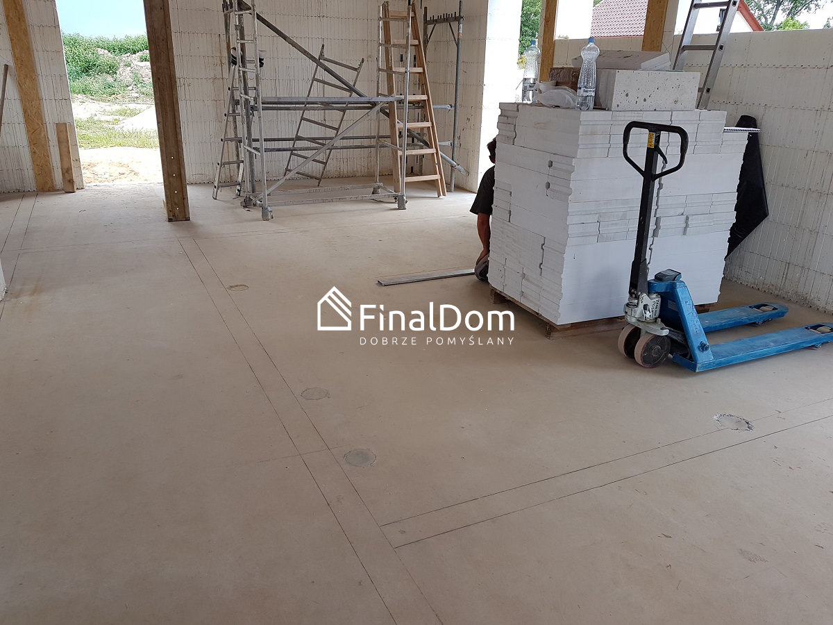 rozmierzanie ścian działowych - dom energooszczęny Śnieżnik - Finaldom