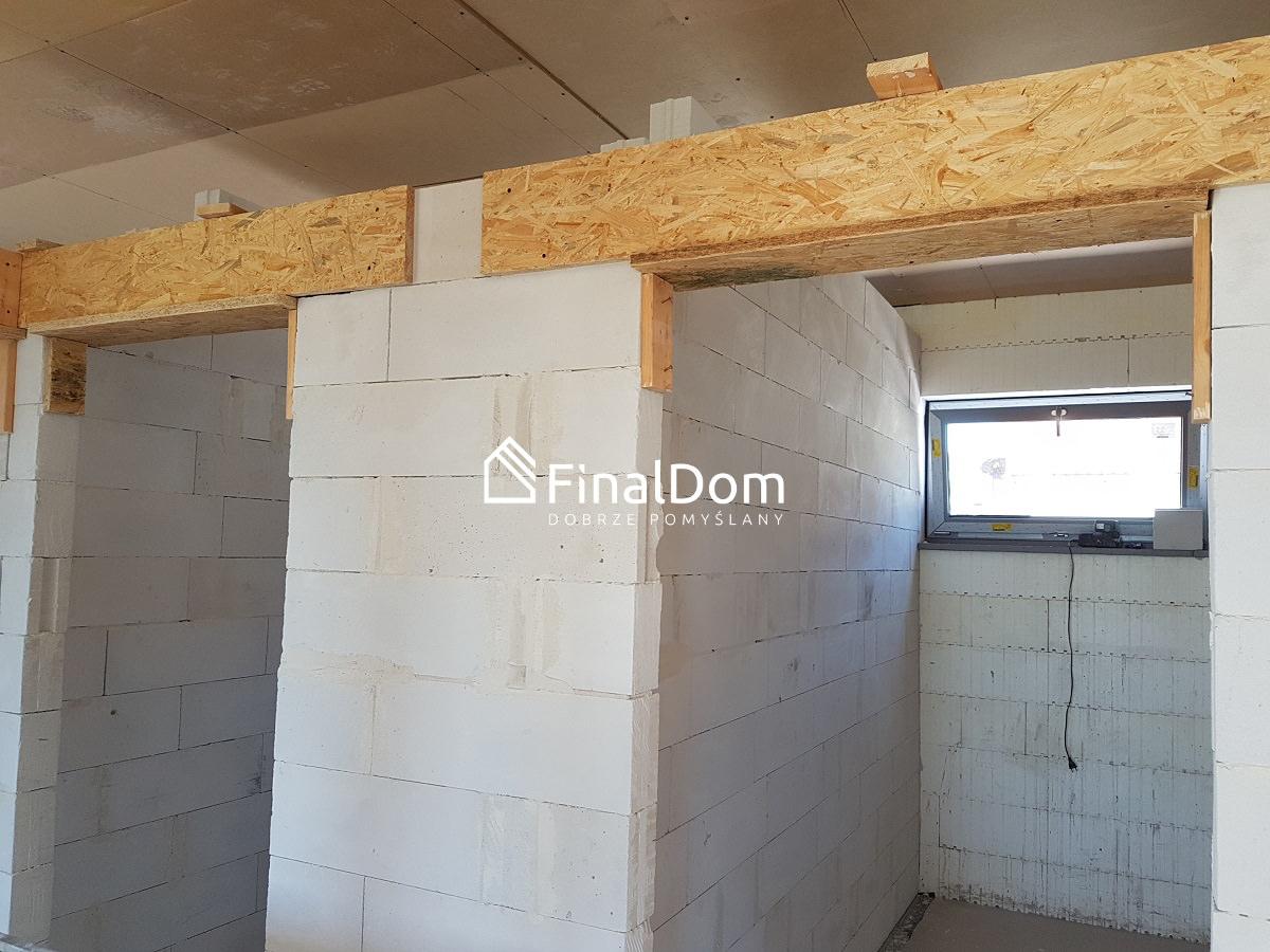 szalowanie nadproży ścian działowych domu energooszczęnego - projekt typowy Śnieżnik - Finaldom