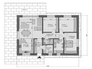 Rudawiec - rzut domu niskoenergetycznego